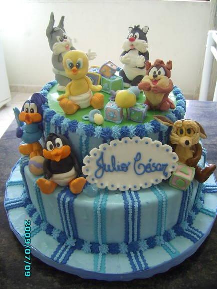 bolo-decorado-baby-looney-tunes